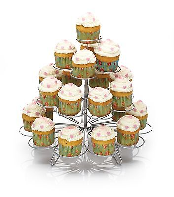 Kitchen Craft 4 Tier Wire 23 Cup Cake Cupcake or Muffin wire Tree Display Stand