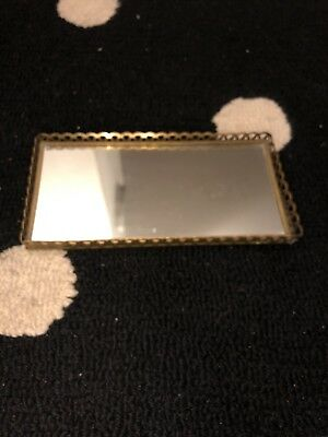 Vintage Antique Mirrored Tray