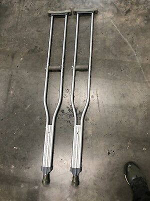 """NEW Lightweight Medical Aluminum Crutches - Pair - 5' 10"""" to 6'-6"""""""""""