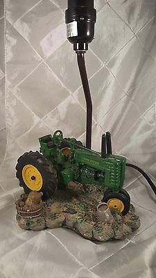 John Deere Resin Table Lamp no Shade 1999