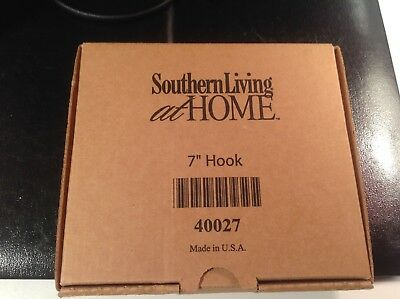 "Southern Living At Home Wrought Iron Hook Hanger Arm 7"" Red Mountain Iron 40027"