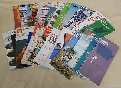 Lot of 25 Vintage ROAD MAPS for Various States MN NE IA Standard +More (TH708/3)