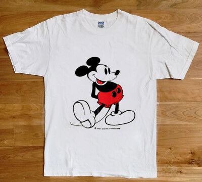 VTG 70s/80s Mickey Mouse TShirt Ringer Walt Disney Minnie Florida World REPRINT