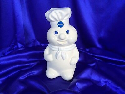 "Vintage 1988 Pillsbury Doughboy 12"" Cookie Jar Benjamin Medwin  EXCELLENT!!"