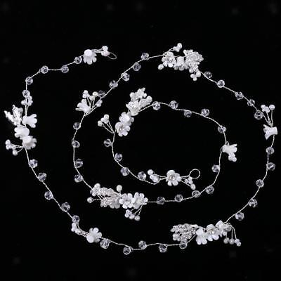 Wedding Party Crystal Flower Pearls Headpiece Lady Hair Jewelry Accessories