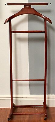 Mid Centuy Fratelli Reguitti Valet Coat Stand Wood Italy Butler Rack Danish Wood