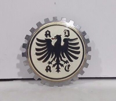 Very Rare Vintage GERMAN ADAC Car Club Grill Badge Made in Spain Rally Emblem
