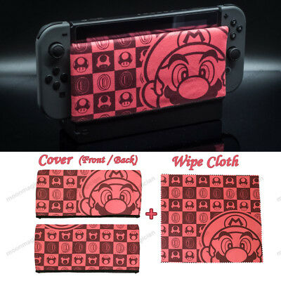 For Nintendo Switch Charger Dock Base Case Cover Sleeve w/ Cloth 2 Pcs Set SDC02