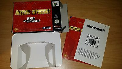 Mission Impossible Nintendo 64 N64 PAL nur Anleitung Box Manual only