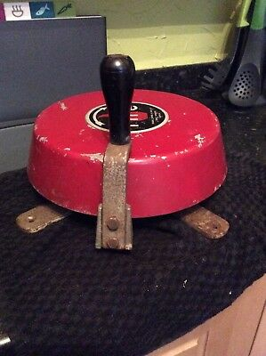 Vintage Cast Iron Industrial Fire Bell Hand Cranked Fully Working