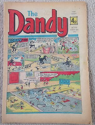 The DANDY August 16th 1975 Vintage Silver Age Comic