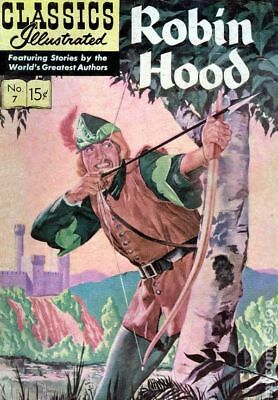 Classics Illustrated 007 Robin Hood #14 1964 VG- 3.5 Stock Image Low Grade