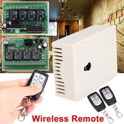 DC 12V 4CH 200M Wireless Remote Control Relay Switch 2 Transceiver+Receiver