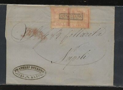 Italy   Two  Sicilies    #2 (2) on folded letter              KL1105