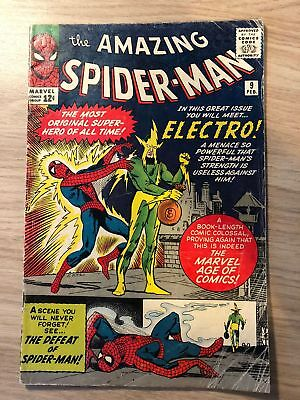 Amazing Spider-man #9 1964 First Electro