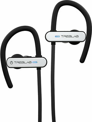 TREBLAB XR800 White Bluetooth Headphones, Best Wireless Earbuds For Sports NEW!