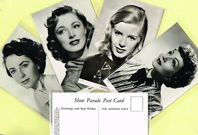 THE PEOPLE - Show Parade Picture Service 1950 Film Star Postcards #1101 to #1192