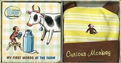 Curious Baby My First Words at the Farm Gift Set (Curious George Book & Hat Set)
