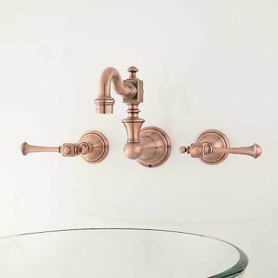 Signature Hardware Vintage Wall Mount Bathroom Faucet with Lever Handles