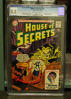 DC (1963) House of Secrets #61 CGC 8.5 1st Appearance Eclipso OW-White Pages