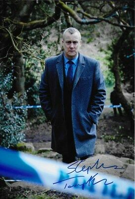 DCI BANKS personally signed 12x8 - STEPHEN TOMPKINSON as Alan Banks