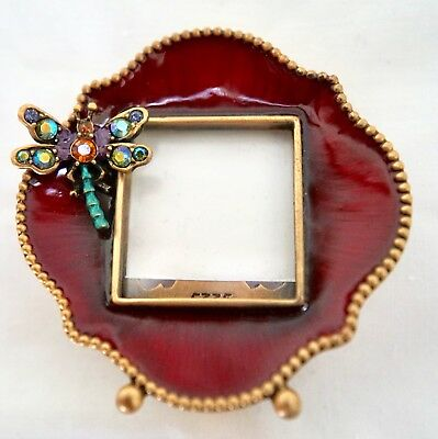 JAY STRONGWATER MINI DRAGONFLY PICTURE FRAME w/ SWAROVSKI CRYSTALS ...