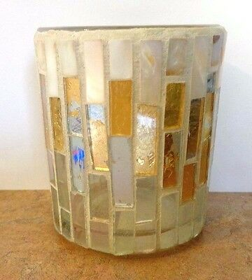 Yankee Candle HOLIDAY GOLD MOSAIC Iridescent Votive Candle Holder NWT Retired