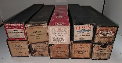 Player Piano Roll Lot of 10 Military Songs QRS Eighty-Eight Note Staffnote