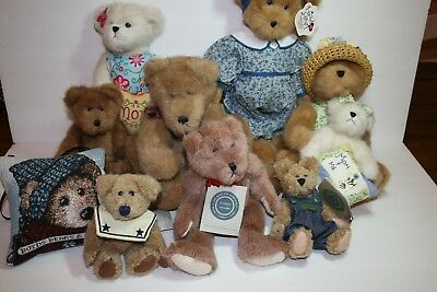 Huge Lot Boyds Bears Plush Teddy Bear Movable Limbs