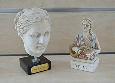 Hygieia head and bust set of 2 artifacts - Goddess of Health -Asclepius daughter