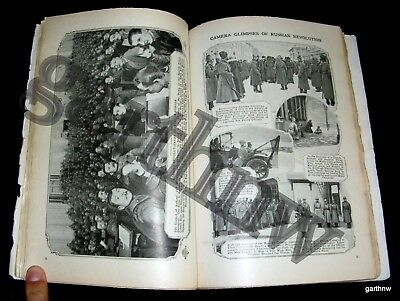 RUSSIAN REVOLUTION 1917+ WORLD WAR I 1st U.S SHOT FIRED USS MONGOLIA PICTORIAL