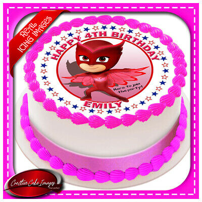 PJ Masks Owlette Edible Icing Image Cake Topper Personalised Party Decoration