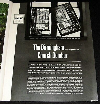 Birmingham Church Bombing 1964 Pictorial Civil Rights Victims Police & Suspects