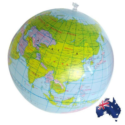 Inflatable World Globe Teach Education Geography Toy Map Balloon Beach Ball Kids
