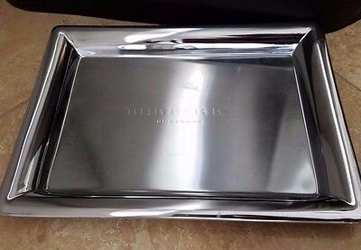 BURBERRY Silver Mirror Vanity Tray Mirrored Perfume Fragrances BONUS RIBBON