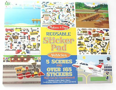 New Melissa & Doug Reusable Sticker Pad Vehicles 4199 Childrens Learning Toys
