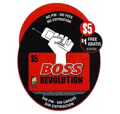 BOSS Revolution | $5 International Calling Cards | New Customers Get $1 FREE