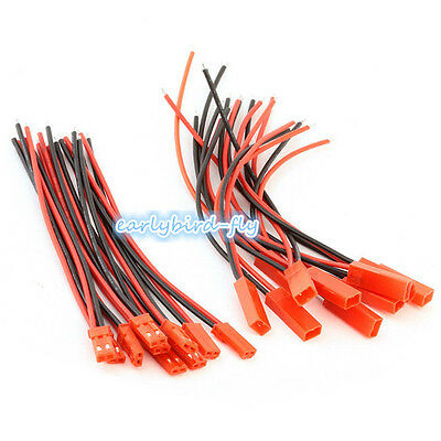 10pc Battery Plug JST RC Model Socket Connector Cable Wire Male Female 5 Pair