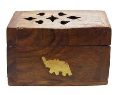 Handmade Wooden Incense Holder Stand Home Decor Fragrance Relaxation - Elephant