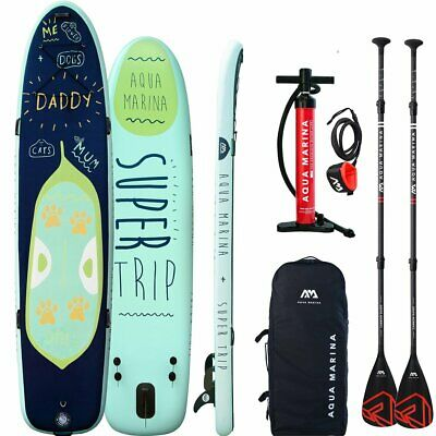 AQUA MARINA Super Trip Mega Sup Modell 2018 Stand Up Paddle Board Carbon Paddel