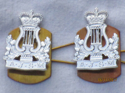 Army Junior School of Music, Collar Badges, Anodised Aluminium Staybright