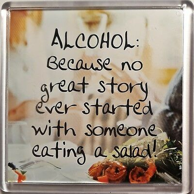 History & Heraldry Sentiment Fridge Magnet -Alcohol: Because no great story