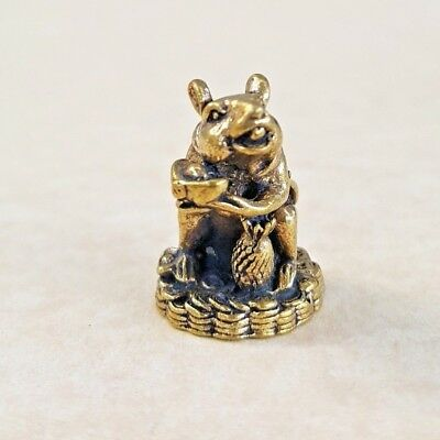 Magic RAT Mouse Money Thai Amulet Brass Holy Luck Rich Protect Sacred Miniature
