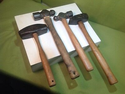 vintage blacksmith hammers Lot of four