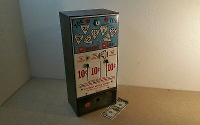 "Vintage 10 Cent ""diamond Dime"" Pull-Tab Vending Machine"