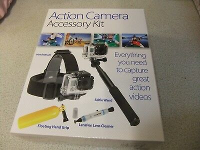 Action Camera / GO-PRO Accessory Kit BARGAIN NEW £4.99 FREE POST SRP £34.99