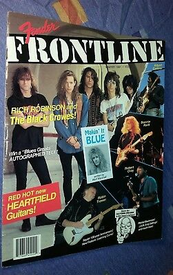 Fender Frontline 1991 Magazine Catalog BLACK CROWS RITCHIE BLACKMORE and MORE!