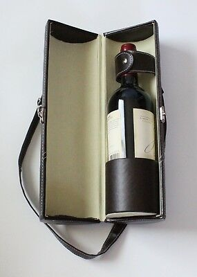 Luxury leather wine bag   NEW   carrying case   transport   tote   Luxurious