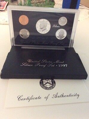 1997-S 90% Silver Proof Set United States Mint Original Government Packaging Box