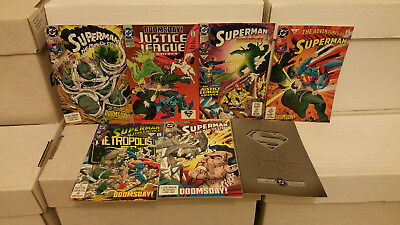 Superman Doomsday Battles Lot (Man Of Steel 18 + 19) 1st Appearance Doomsday NM-